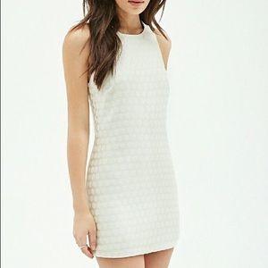 Cream Polka Dot Shift Dress